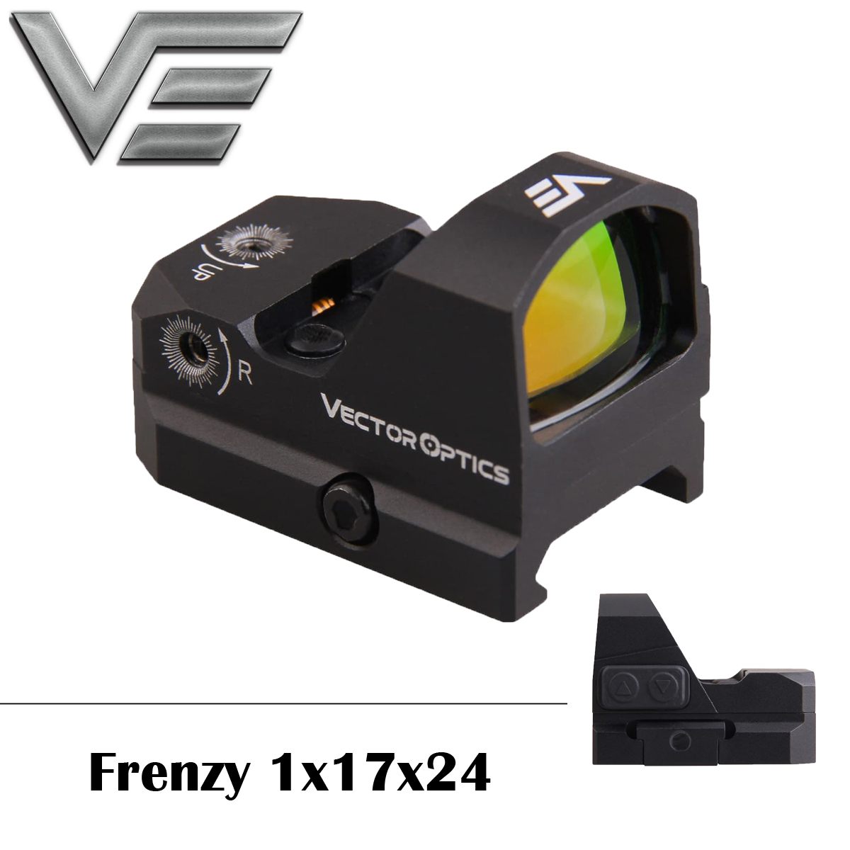 Vector Optics Frenzy 1x17x24 AR15 M4 AK47 Pistol Red Dot Scope 9mm Red Dot Sight With Water Proof Fit 21mm Picatinny GLOCK 17 19