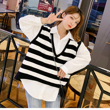 Tops Sweater Korean-Style Women Autumn Sleeveless Knitted Vest Pullover Loose Vintage
