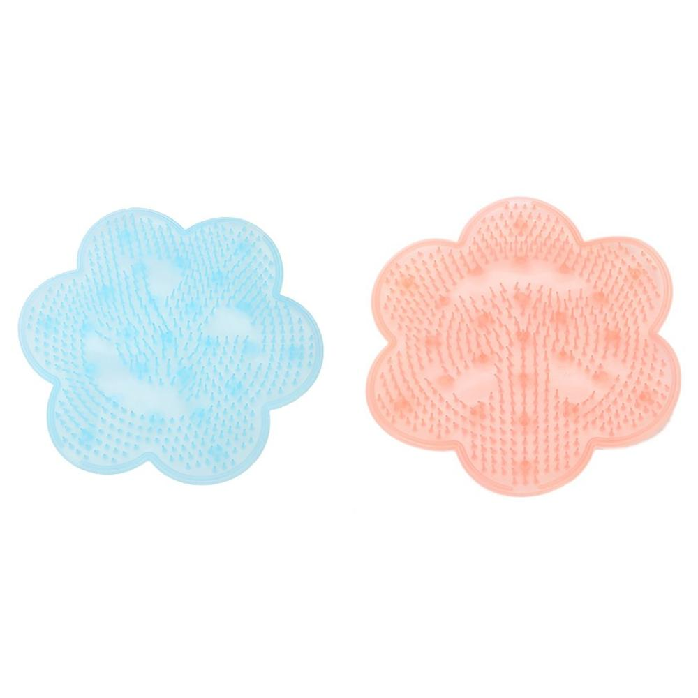 Shower Silicone Wash Foot Bath Back Massage Cushion Feet Wash Cleaning Care Brush Bathroom Non-slip Suction Cup Mat Tools