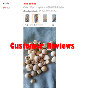 Image 5 - 45pc Wooden Beads Baby Teether Making Pacifier Chain Wooden Rodent DIY Crafts Newborn Teething DIY Accessories Wooden Teether