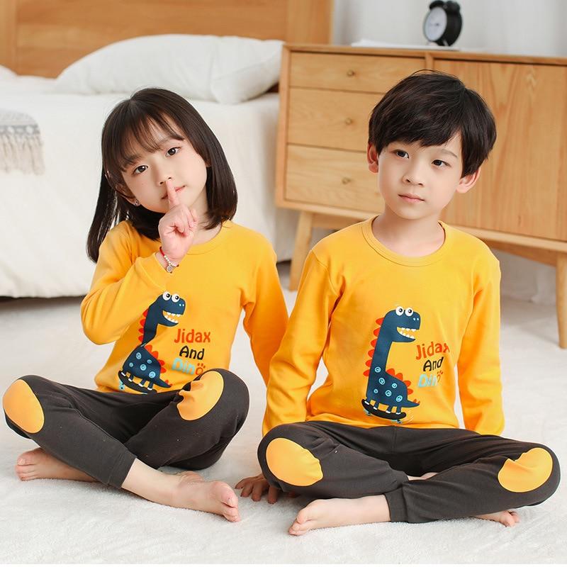 New Autumn Boys Girls Sleepwear Cartoon Pajamas Sets Long Sleeved Pyjamas Kids Children's Homewear Night Suit Pijama Infantil 4