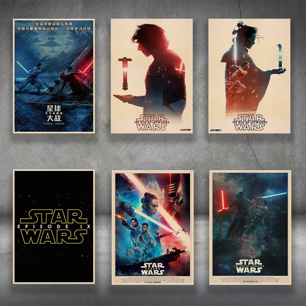 Poster Wall Art Star Wars The Rise Of Skywalker Ix 2019 Comic Movie Painting Picture Prints Living Home Room Decor Painting Calligraphy Aliexpress