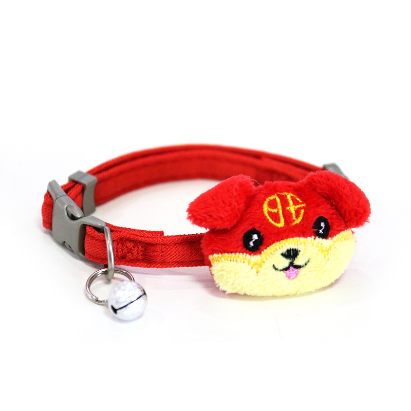 New Year-Dog Neck Ring Pet Traction Rope Small And Medium-sized Dogs Dog Neck Ring Cat With Neck Ring Pet With Supplies