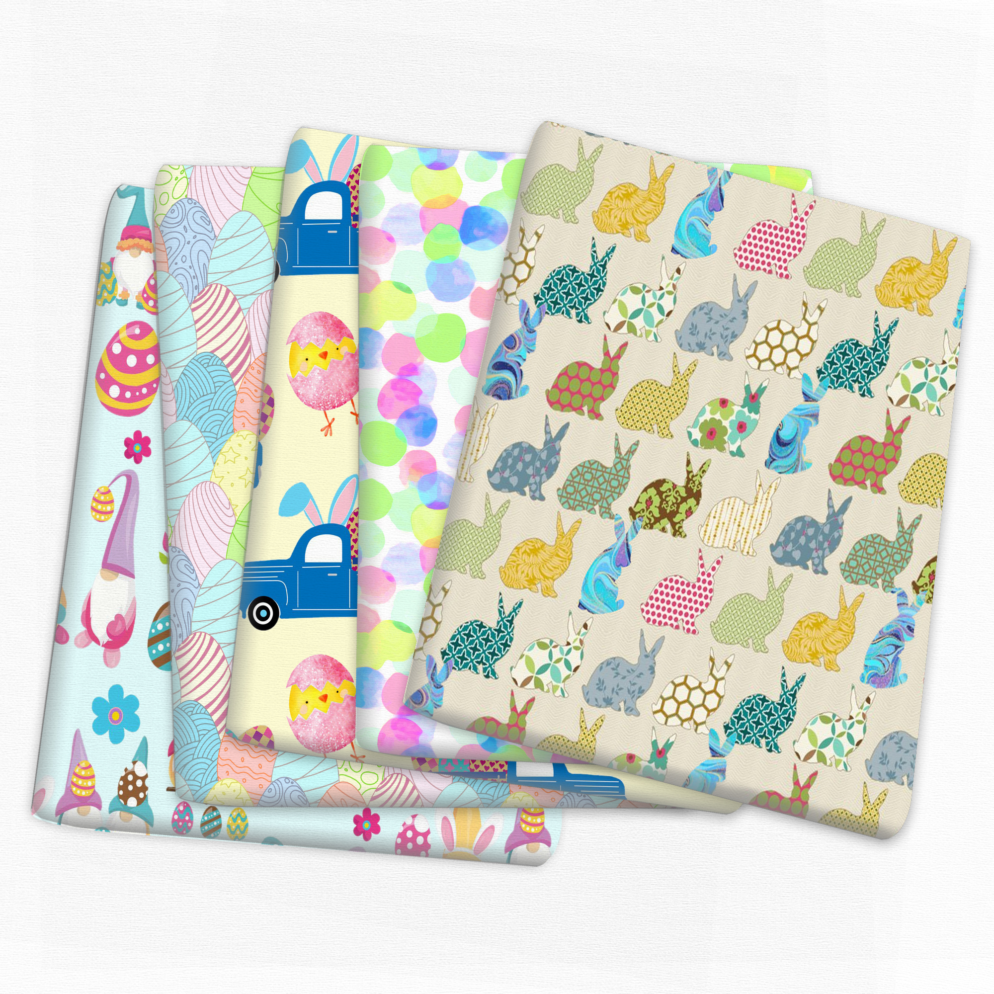 Пасхальная ткань в виде яйца кролика 50x145 см для тканей, детский домашний текстиль, ткань в стиле пэчворк, ткань «сделай сам» для шитья, шторы ...