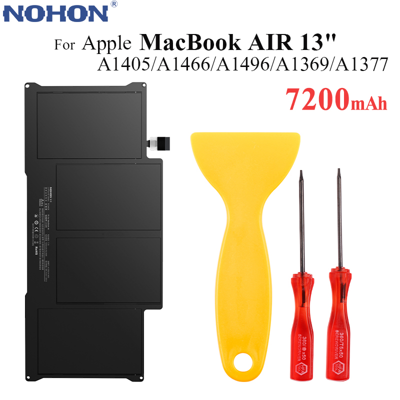 Original NOHON <font><b>Battery</b></font> A1405 for Apple MacBook Air 13