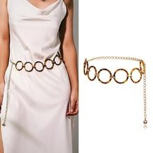 Acrylic Circle Chain Belly Chains Fashion Bohemian Retro Body Jewelry Office Ladise Sexy Trendy Women