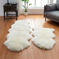 full piece natural sheepskin rugs white sheep fur rug sofa/computer chair mat soft bedroom sheep fur rug