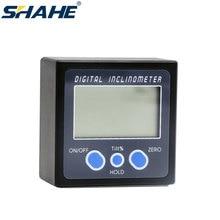 Caja de nivel electrónica de 360 grados, Mini transportador Digital, inclinómetro, buscador de ángulos, medidor de bisel, Base magnética, herramientas de medición