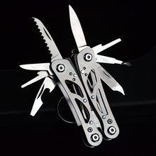 Knife-Screwdriver Keychain-Tool Pocket Multitool EDC Outdoor Survival Camping Stainless-Steel
