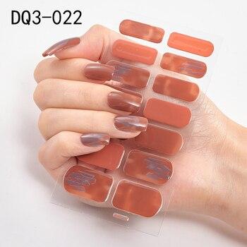 14pcs/sheet Glitter Gradient Color Nail Stickers Nail Wraps Full Cover Nail Polish Sticker DIY Self-Adhesive Nail Art Decoration 123