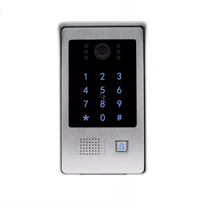 Jeatone 4 Wires Video Door Phone Outdoor Call Panel Station With RFID Card Swiper And Password Keypad Door Opener Entry Device