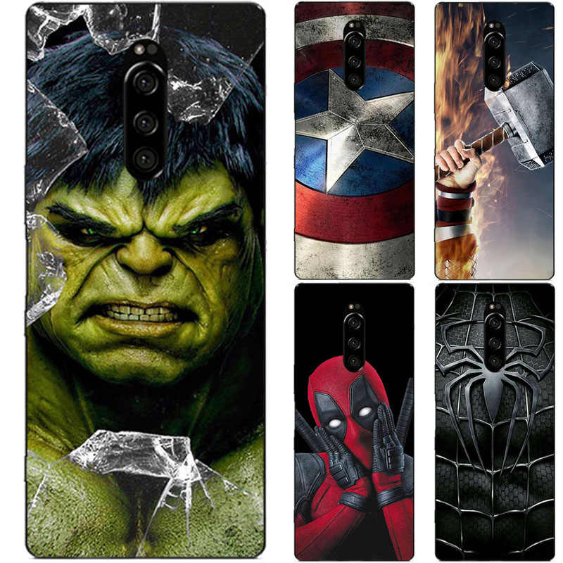 Superhero etui na telefon do Sony Xperia 1 XZ4 XZ3 XZ2 XZ1 XZ Compact Premium Mini Plus Superman tylna okładka torby Fundas Shell