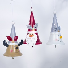 1PC Christmas Santa Claus Pendant Iron Decoration for Home Bedroom Tree Ornaments Xmas Gifts