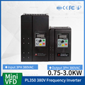 PL350G3 Mini VFD Variable Frequency Drive Converter for Motor Speed Control Frequency Inverter 380V input 1HP 2HP 2.2KW 3KW vfd