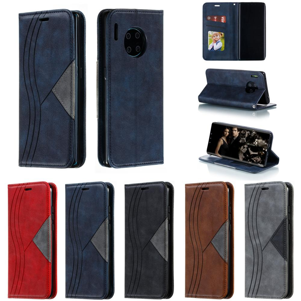 PU Leather Leathe Flip Wallet Wallt Stand Phone Cover Case για Huawei Huawe Huaewi P30 P20 Pro P20 Lite Mate 30