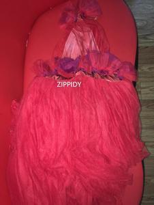 Image 2 - Vestido transparente con flores rojas para celebraciones de cumpleaños, Bar, cantante, espectáculo, largo para baile, 2019