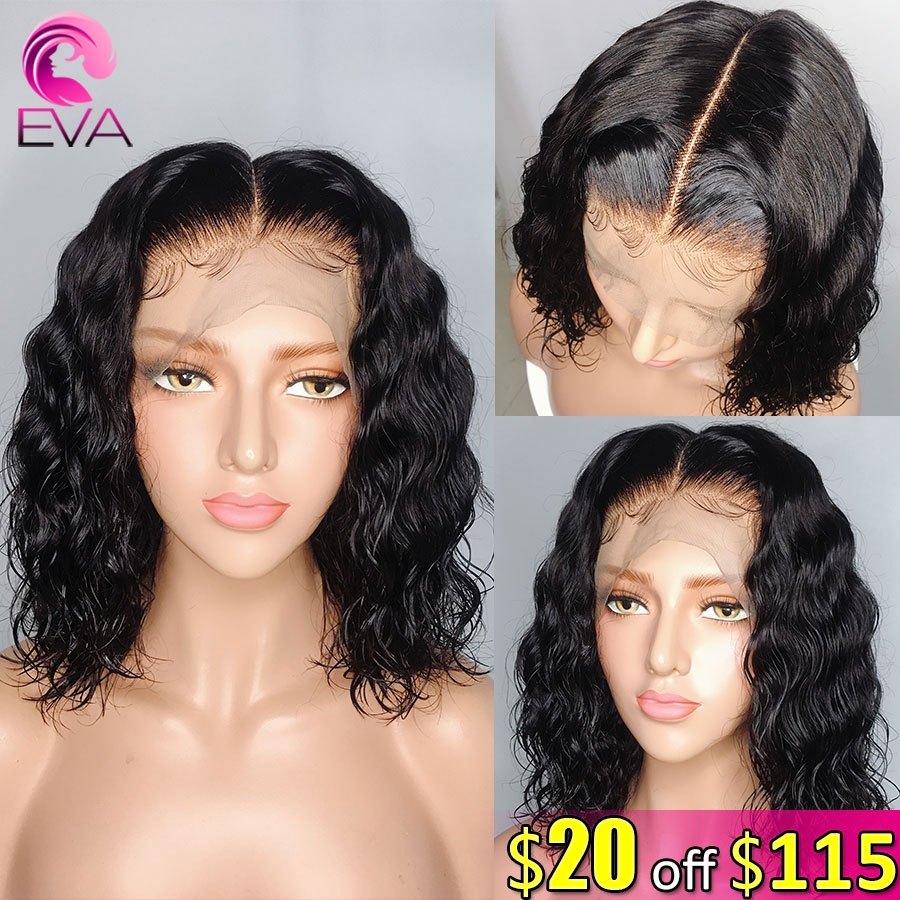 Eva Hair Short Bob 150% 13x6 Lace Front Human Hair Wigs Pre Plucked With Baby Hair Brazilian Remy Hair Wigs For Black Women