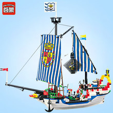 цена на Enlighten Pirates series Royal warships Building Blocks set Bricks Construction Toys For Children Gift 305 Legoegoly