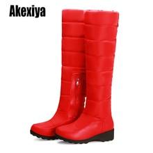 Новинка года; зимние сапоги до колена; модная женская обувь на молнии, увеличивающая рост; ботильоны; большие размеры 34-43; k1002