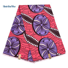 6 yards Dutch Wax dutch Ankara Fabric Flower Printed Wedding Dress African Fabric Polyester dutch Wax 2018 FP6168