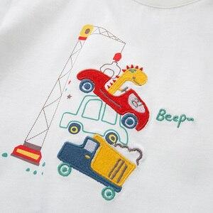 Image 4 - DBJ13529 1 デイブベラ少年プリント tシャツ幼児綿トップス子供春 tシャツプルオーバー長袖服