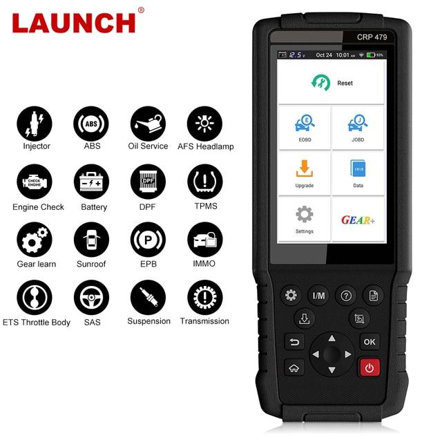 LANÇAMENTO X431 CRP479 Motor Scanner de código de Ferramenta de Diagnóstico Auto OBD2 ABS EM Óleo EPB 2 15 DPF Redefinir TPMS OBD Carro leitor de código de PK CRP429 scaner scanner automotivo