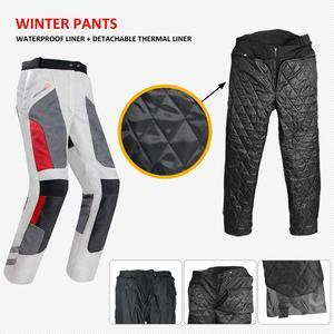Image 3 - קיץ חורף אופנוע מעיל מכנסיים מקצועי חליפת רכיבת מגן מעיל מכנסיים רוכב בטיחות בגדי JK 40