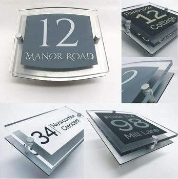 House number House Door Number Personalised Clear Acrylic Signs for your home Door sign  name plates  brass door plates custom house number acrylic house sign with house number