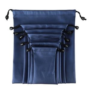 New Fashion PU Leather Gift Bag Jewelry Pouch Drawstring Wedding Waterproof Organizer