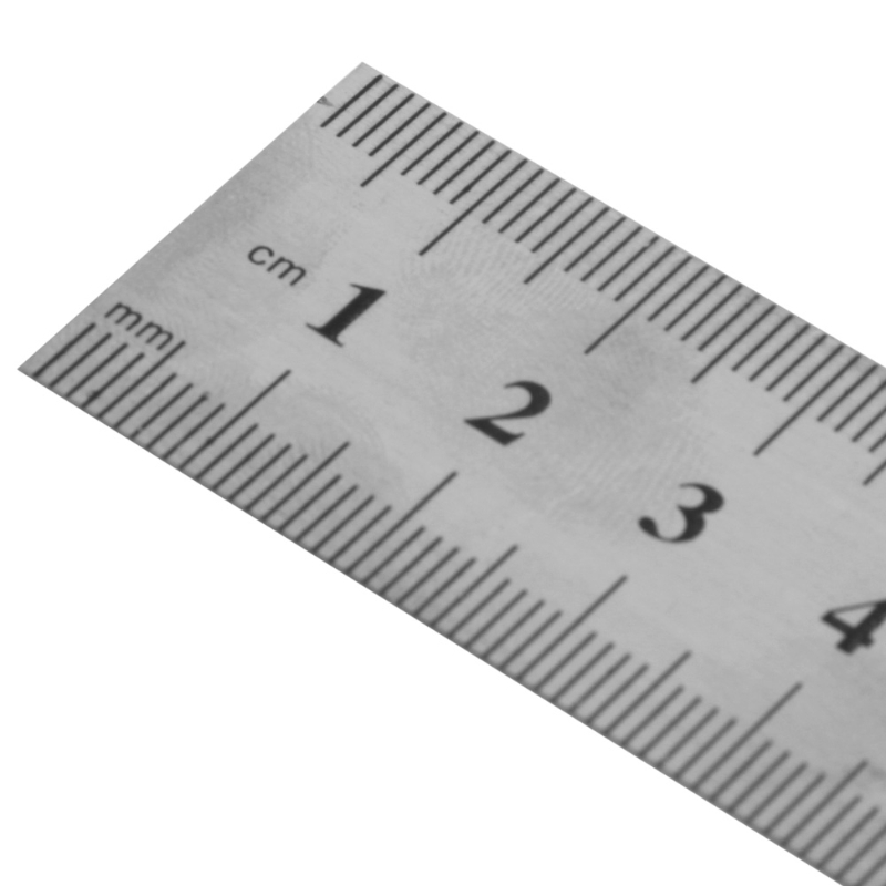 15//30cm*Stainless Steel Pocket Pouch Metric Metal Ruler Measurement Double-Sided