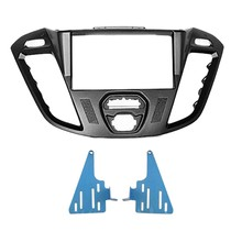 2-DIN Car Head Unit Fascia Facia Installation Dash Kit for Ford Transit Custom, Tourneo Custom 2012+ ( Black )(China)