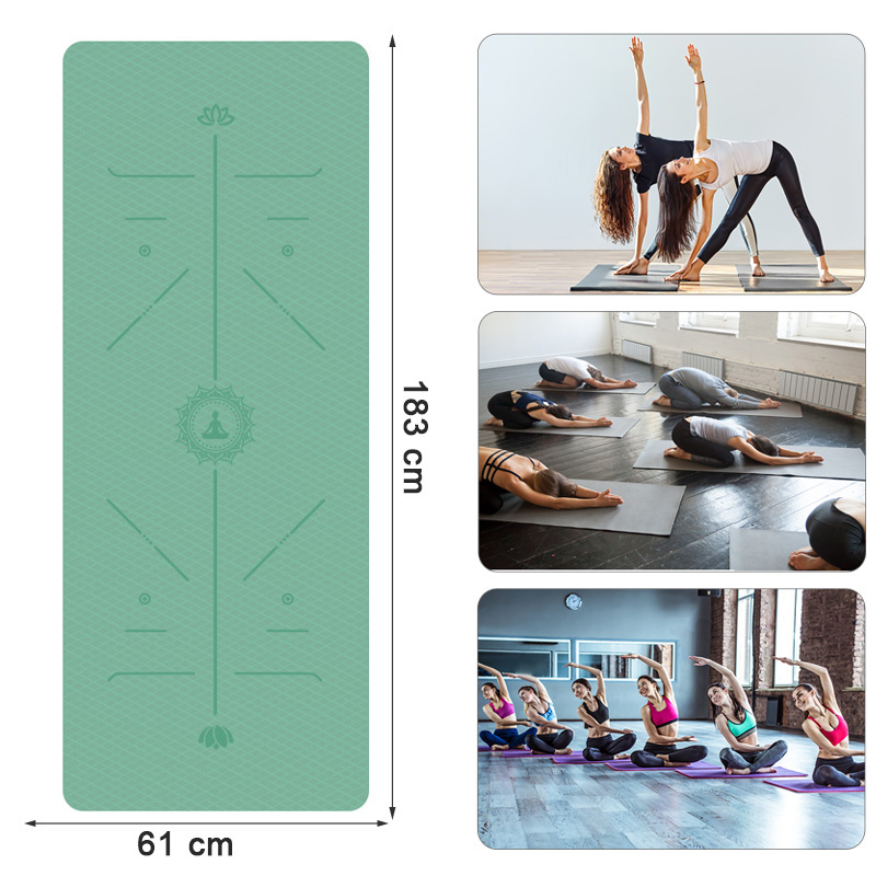 Yoga/Pilates Mat Double Sided with position 6mm thick