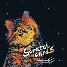 41*28cm Creative Animal Scratch Painting Cards Diy Colorful Handmade Scratch Paper Home Decor. Drawing Decompression Toys