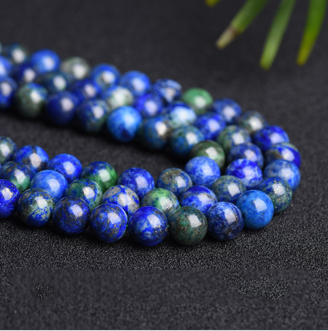 Natural Chrysocolla 4-12mm Round Gemstone Beads  For 925 Sterling Silver Jewelry Making  Necklace Bracelet 15inch ICNWAY