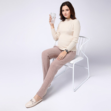 Solid Color Maternity Pants Adjustable  Warm Clothing Plus Size Loose Leisure Pregnant Women