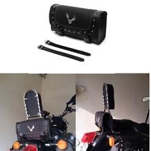 Triclicks Motorcycle Bags Black PU Leather Saddle Bag Motorcycles Side Storage Tool For Harley Sportster Luggage Saddlebag