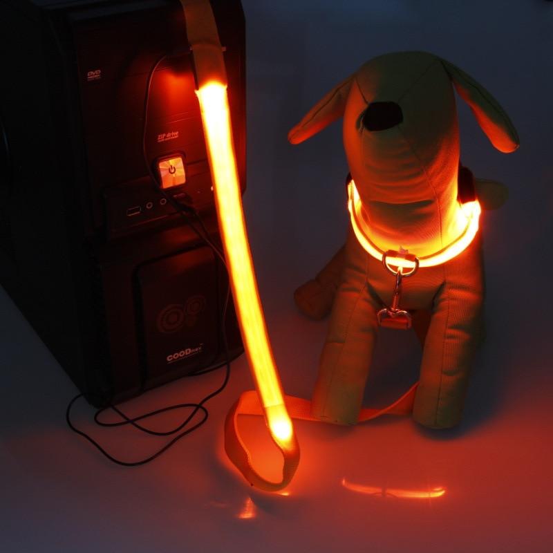 LED Shining Pet Charging Dog Neck Ring Pet Collar Charging Dog Collar Shining Night Light Neck Ring Send USB Cable