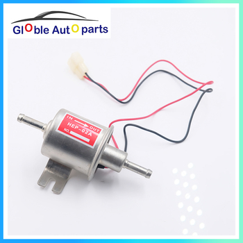 Universal 12V Electric Fuel Pump Low Pressure Bolt Fixing Wire Diesel Petrol For Car Carburetor Motorcycle ATV HEP-02A