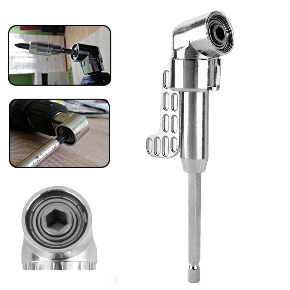 105 Degrees Adjustable Hex Bit Angle Driver Screwdriver Socket Holder Adaptor Tools