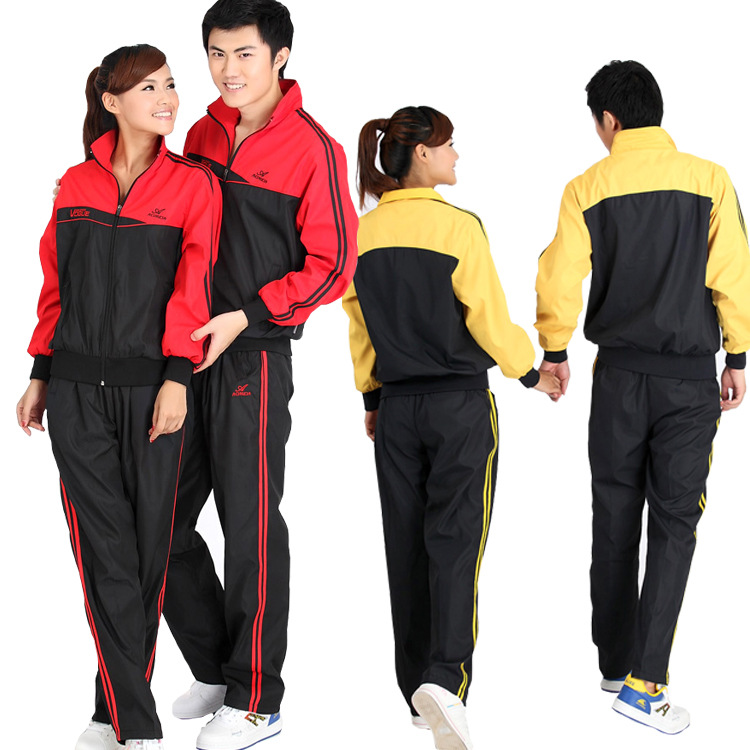 Ao Mi Da Sports Clothing Set Couples Dacron Sports Set Men And Women Casual Sports Clothing Spring And Autumn