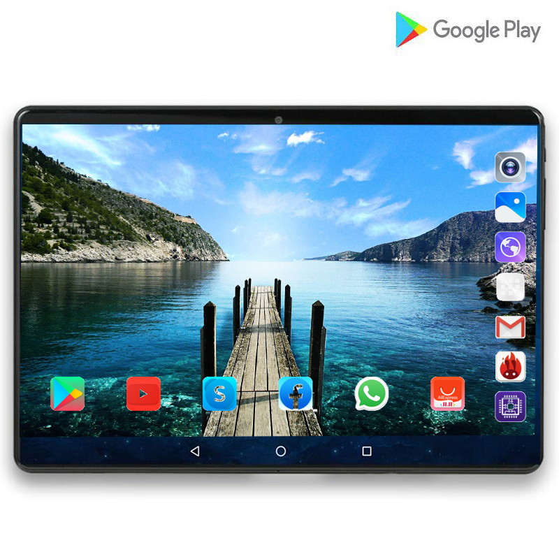 LTE Tablet Multi-Touch Android 10' Glass-Screen Dual-Cameras Octa-Core 128G Pocket 4G title=
