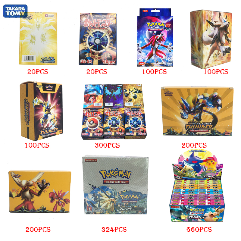 Takara Tomy PTCG Pokemon Cards GX EX MEGA 3D Flash Card Sword Shield Sun&Moon Card Collectible Gift Children Toy