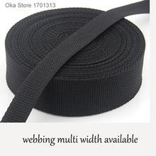 5 м крепкий черный комплект оборудования PP лента для ремня 2 см до 5 см ширина полипропиленовая тесьма лента для тентов аксессуары для швейны...