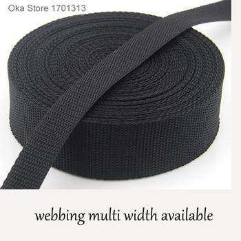 5M strong black equipment bundle PP belt tape 2cm to 5cm width polypropylene webbing band for tent accessories sewing bag