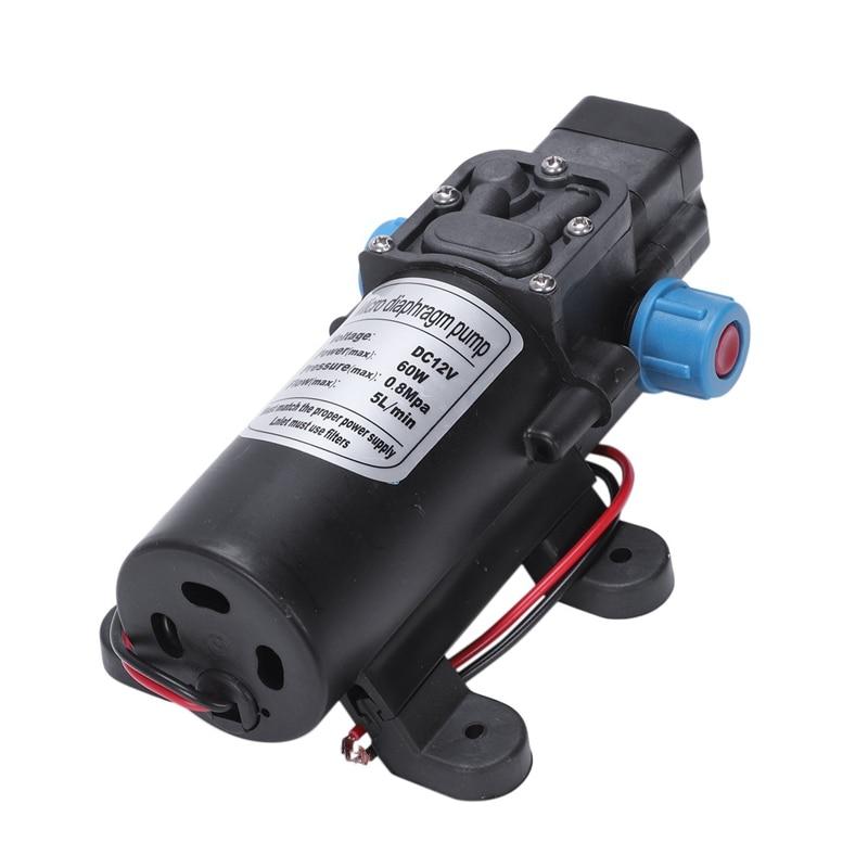 ELEG-Black DC 12V 60W High-pressure Mini Membrane Water Pump Automatic Shutdown 5L / Min