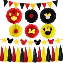 Mickey Party Decoration Baby Shower Supplies Childrens favorite party theme decoration collection