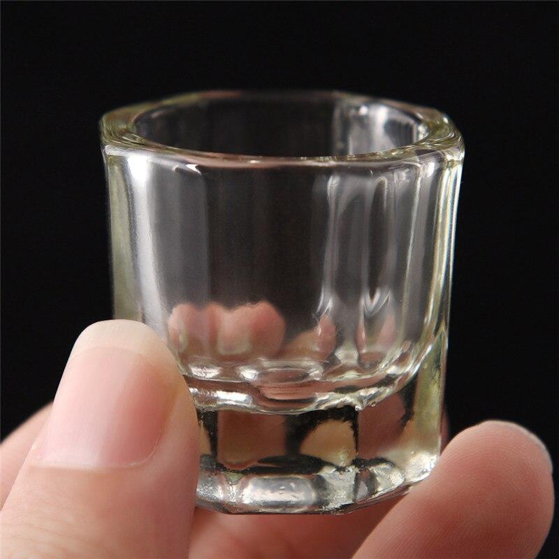 1 adet şeffaf kiti akrilik toz Dappen bulaşık akrilik sıvı cam kristal cam bardak akrilik Nail Art temizle beyaz renkli