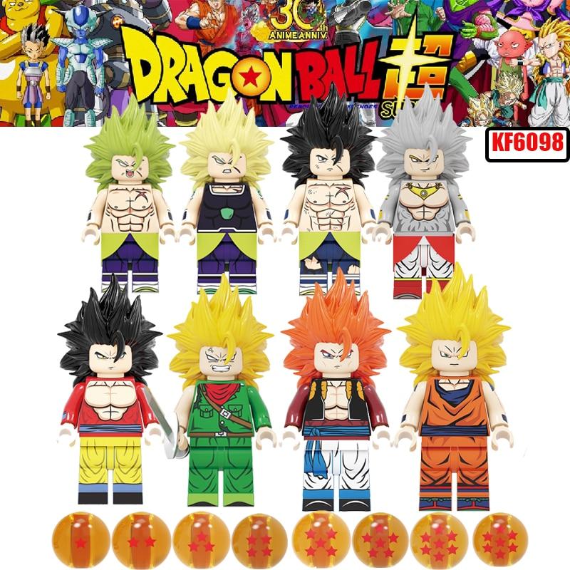 Dragon Ball Z Broly Super Legoinglys Figures Broli Son Goku Torankusu Gogeta Trunks Janemba Vegeta For Kids Gift Toys KF6098