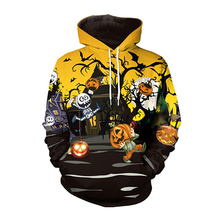 Oversized Hoodies Women/men 2019 Streetwear Casual Ghost Print Halloween Town Sweatshirt Top Sudadera Mujer halloween cartoon ghost print sweatshirt