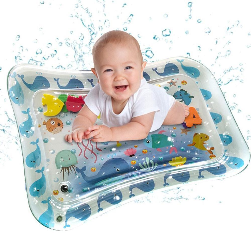 70CM Baby Kid Water Play Mat Inflatable Thicken PVC Infants Gym Playmat For Children Summer Swimming Beach Pool Game Carpet Toy